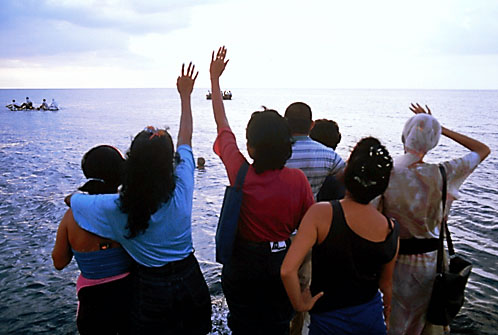 Cuban rafters trying to leave the Hell that Castro has created for them